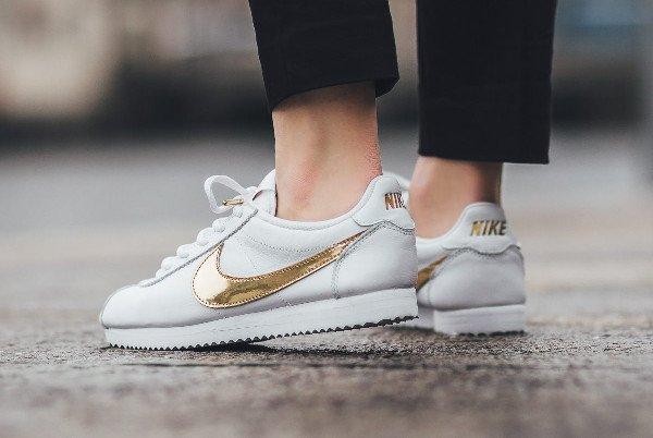acheter Nike Cortez QS White Gold Swoosh pas cher (2)