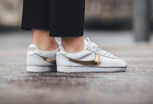acheter Nike Cortez QS White Gold Swoosh pas cher (3)