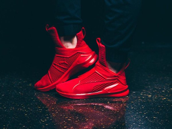 acheter Puma Fenty Trainer By Rihanna Red (rouge) pas cher (3)
