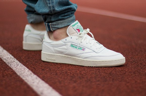 a59e06867444 Reebok Club C 85 Vintage OG  Chalk White Green