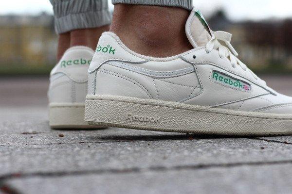 acheter Reebok Club C 85 Vintage OG White Green 2016 pas cher (5)