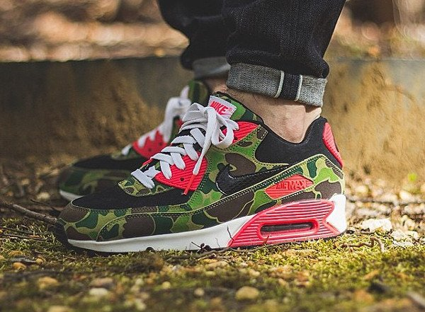 2013 Atmos x Nike Air Max 90 Infrared Duck Camo - @joelom