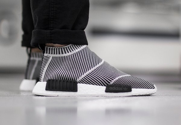Adidas NMD CS1 City Sock PK Slip On Black White (1)