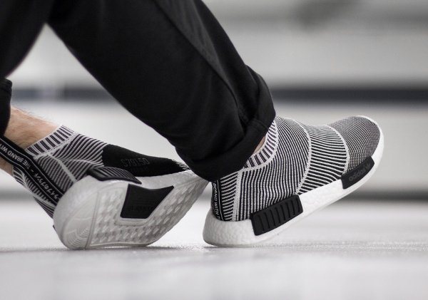 Adidas NMD CS1 City Sock PK Slip On Black White (2)