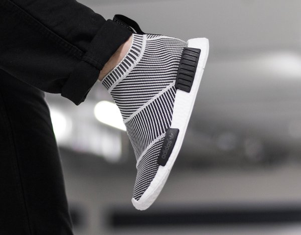 Adidas NMD CS1 City Sock PK Slip On Black White (3)