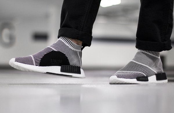 Adidas NMD CS1 City Sock PK Slip On Black White (4)