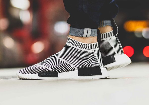 Adidas NMD CS1 City Sock Primeknit Boost Black White pas cher (2)