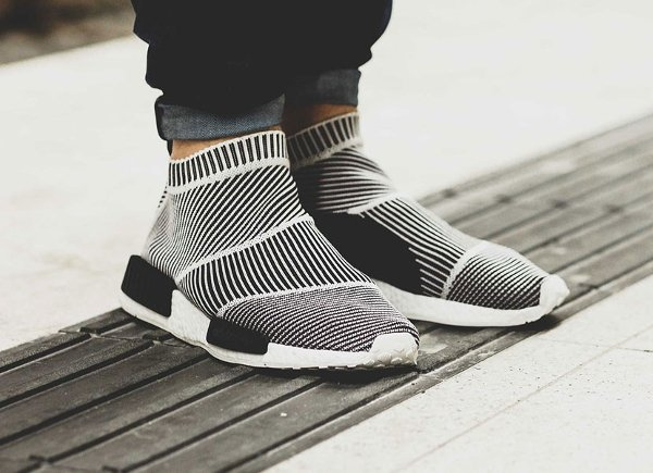 Adidas NMD CS1 City Sock Primeknit Boost Black White pas cher (4)