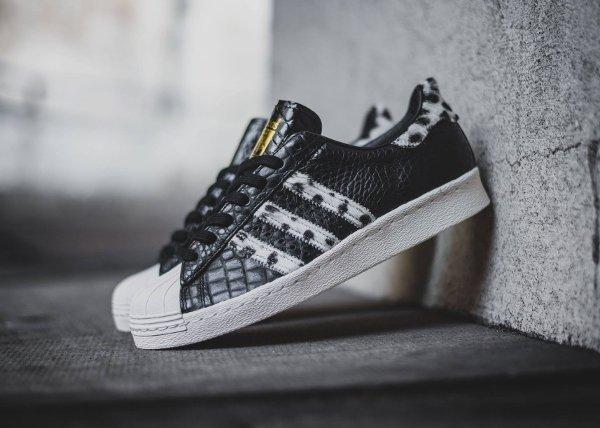 Adidas Superstar 80s Animal Core Black (1)