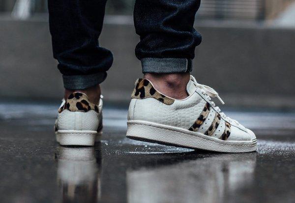 Adidas Superstar 80s Animal Croc Leopard Chalk White homme (2)