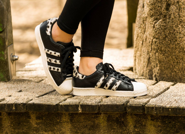 Adidas Superstar 80s Animal Croc Leopard Core Black homme