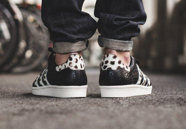 Adidas Superstar 80s Animal Croc Leopard Core Black homme pas cher (2)