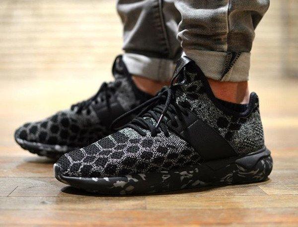 Adidas Tubular Runner Primeknit Black Snake - @hainejoy