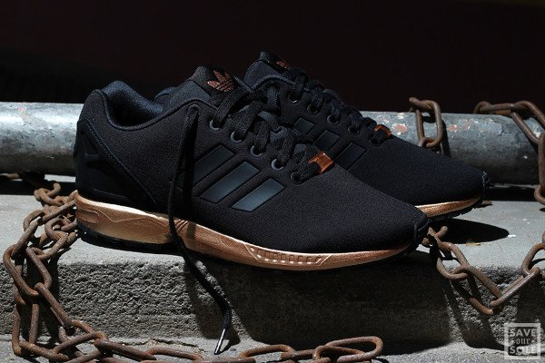 Adidas ZX Flux Black Light Copper Metallic (femme) (1)