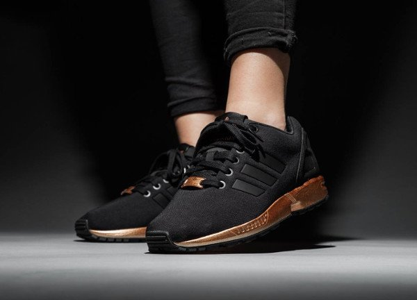 Adidas ZX Flux Bronze Black Copper Metallic pas cher (1)