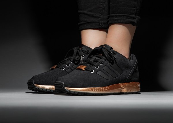 Adidas ZX Flux Bronze Black Copper Metallic pas cher (2)