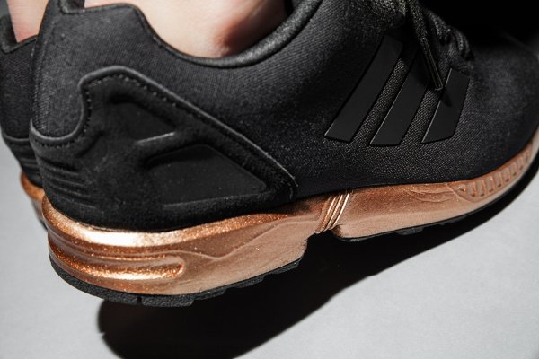 Adidas ZX Flux Bronze Black Copper Metallic pas cher (4)