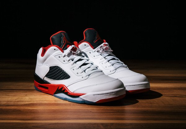 Air Jordan 5 Retro Low 'White Fire Red'