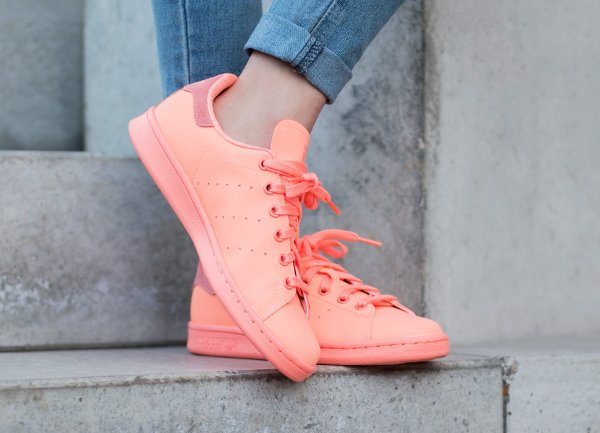 Basket Adidas Stan Smith Triple Sunset Glow Reflective pas cher (4)