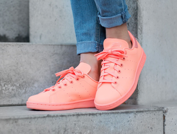 Basket Adidas Stan Smith Triple Sunset Glow Reflective pas cher (5)