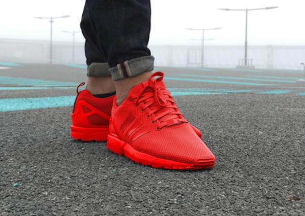 baskets adidas zx flux rouge