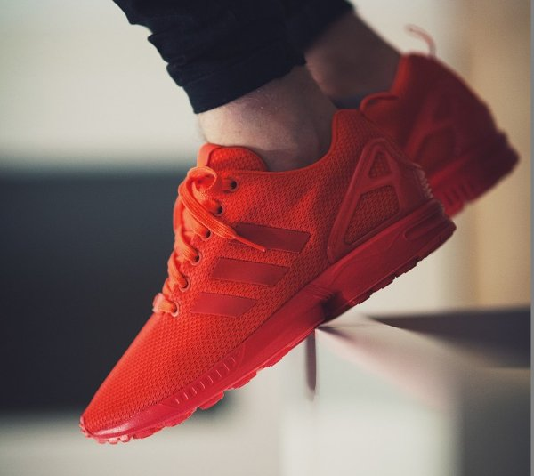 Basket Adidas ZX Flux Rouge Triple Red October pas cher (2)