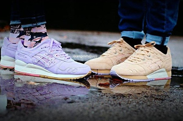 Clot x Asics Gel Lyte 3 Sand and Lavender