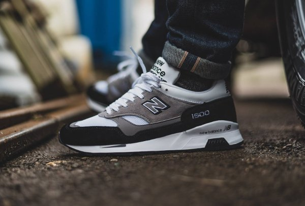 New Balance M 1500 KG Black Grey White pas cher (Made in England) (1)