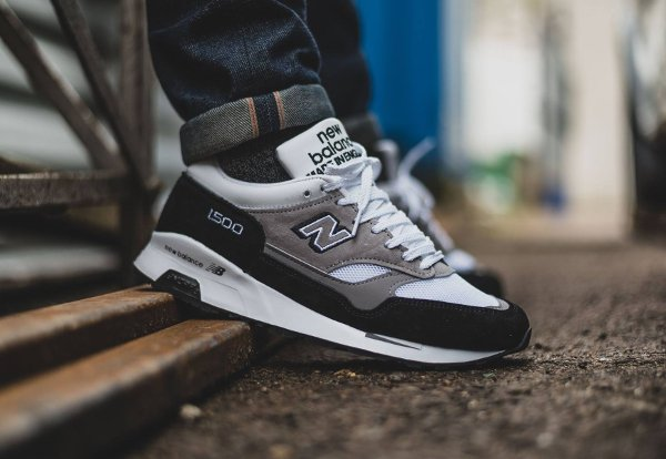 New Balance M 1500 KG Black Grey White pas cher (Made in England) (2)
