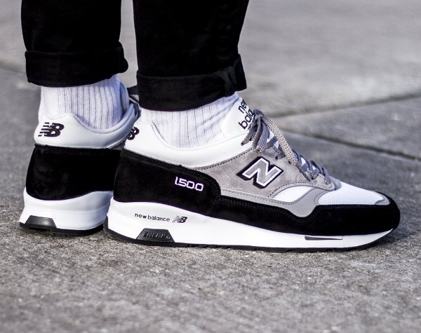 New Balance M 1500 KG Black Grey White pas cher (Made in England) (5)