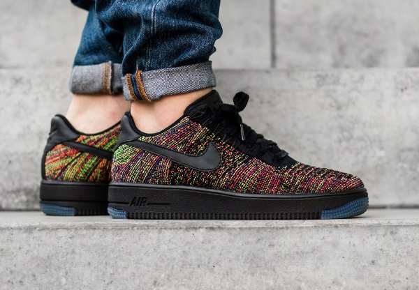 Nike Air Force 1 Flyknit basse Multicolor (1)