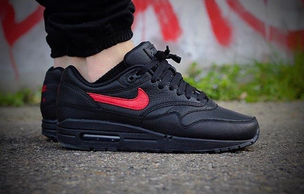 the latest c41ab 31b91 ... Nike Air Max 1 ID Black Crimson – kicksssss ...