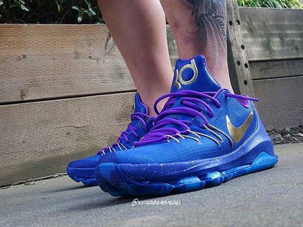 Nike KD Blue Gold - @kickgamemean