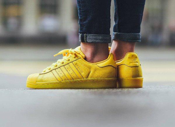 superstar femme adidas jaune