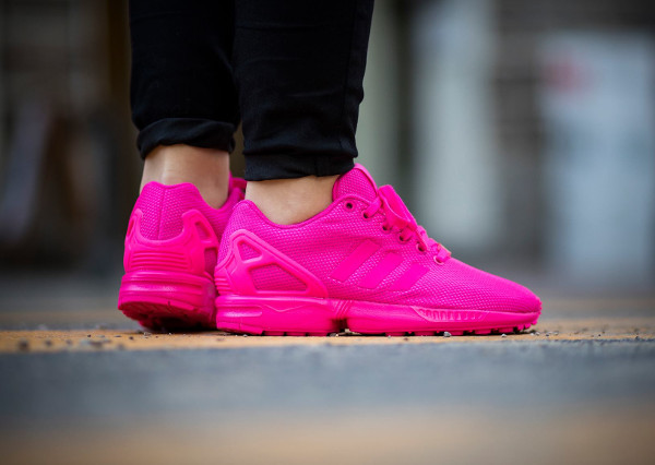 basket adidas zx flux rose fluo