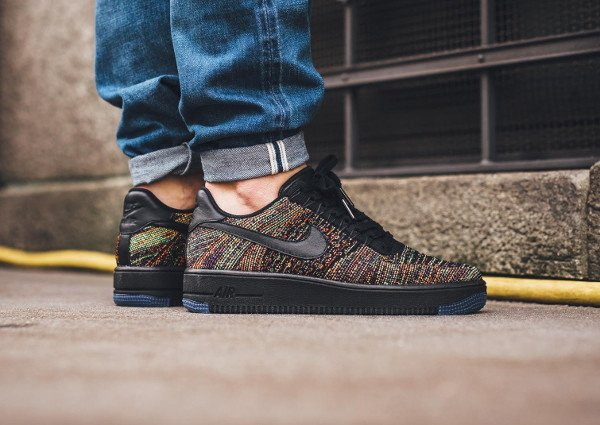 acheter Nike Air Force 1 Flyknit Low Multicolor pas cher (1)