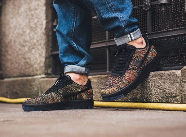 acheter Nike Air Force 1 Flyknit Low Multicolor pas cher (2)
