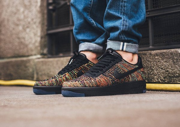 acheter Nike Air Force 1 Flyknit Low Multicolor pas cher (3)