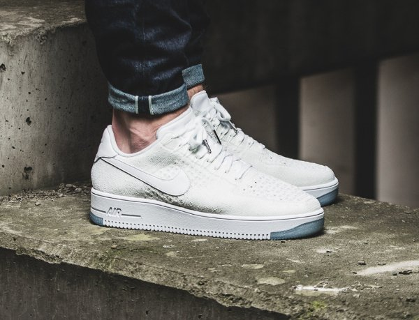 acheter Nike Air Force 1 Flyknit Low White Ice pas cher (2)