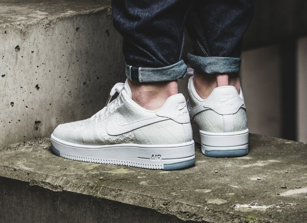 acheter Nike Air Force 1 Flyknit Low White Ice pas cher (3)