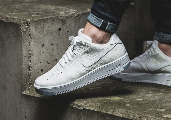 acheter Nike Air Force 1 Flyknit Low White Ice pas cher (4)