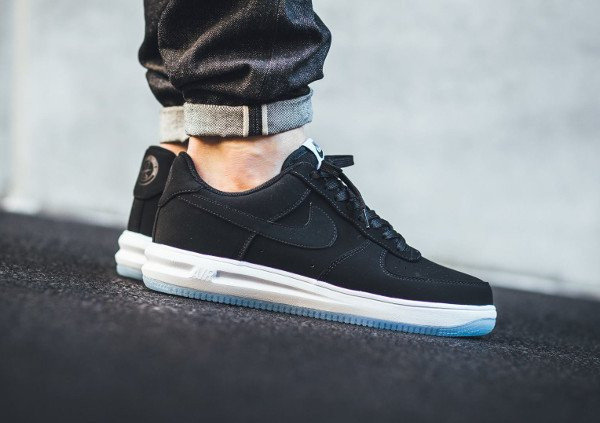 acheter Nike Lunar Force 1 '14 Low Suede Black Ice pas cher (1)