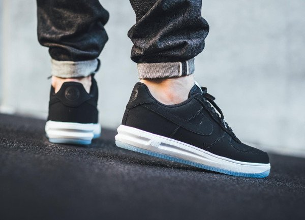 acheter Nike Lunar Force 1 '14 Low Suede Black Ice pas cher (2)