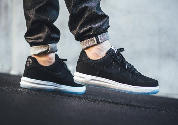 acheter Nike Lunar Force 1 '14 Low Suede Black Ice pas cher (3)