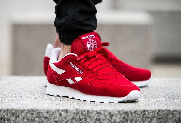 acheter Reebok Classic Leather IS Excellent Red pas cher (2) 6febe79bd