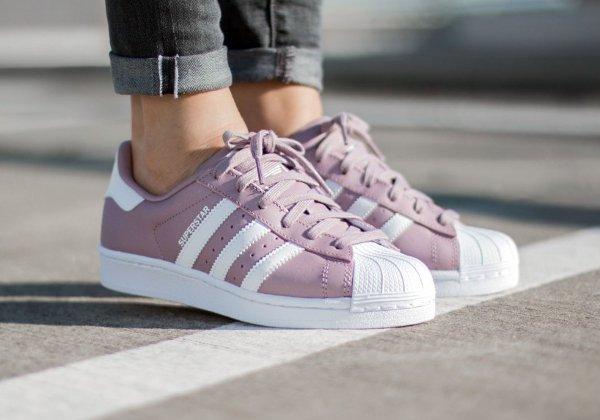 basket Adidas Superstar 80's W Blanch Purple rose Polka Dot pas cher cher ...