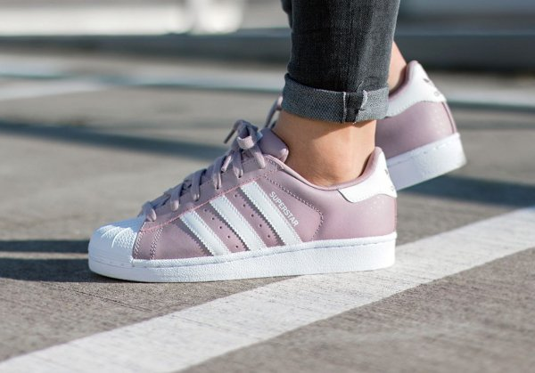 basket Adidas Superstar 80's W Blanch Purple rose Polka Dot pas cher cher ...
