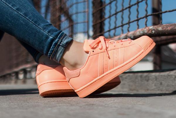 Adidas Originals Superstar Croco Chaussures Femmes Sun Glow//Blanc
