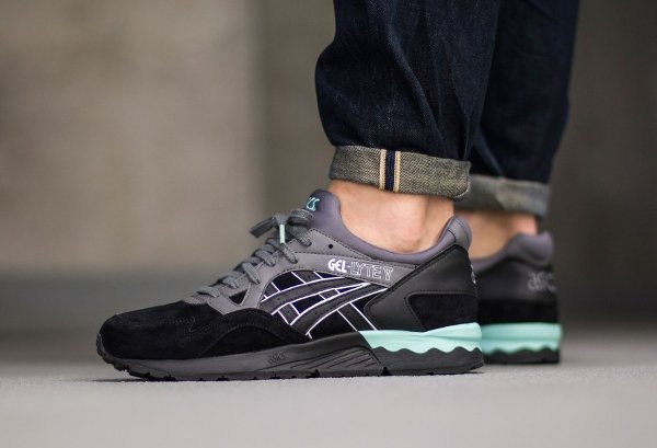 Asics Gel Lyte V Suede Casual Lux Black Turquoise | Clothing