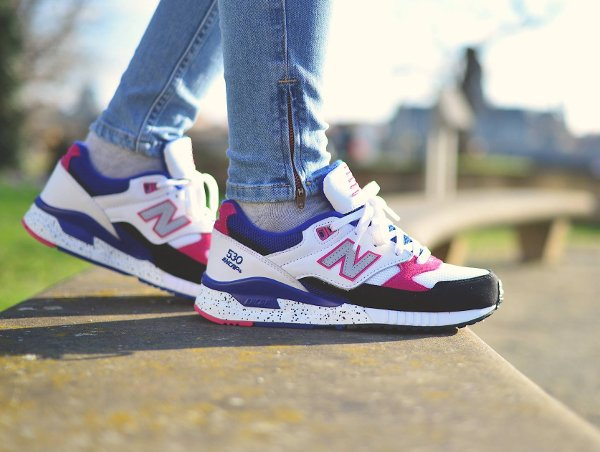 basket New Balance W 530 PSA Carnival Pink 90s Running Leather pas cher (4)
